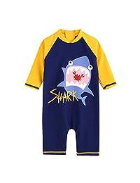 TimNas Baby Boy Sun Protective Swimwear Kids One Piece Rash Guard Swimsuit Animal Shark
