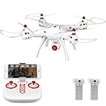Syma X8SW (+Extra Battery) 720P HD Wifi Camera FPV Drone - Altitude Hold - iOS Android - RC Quadcopter
