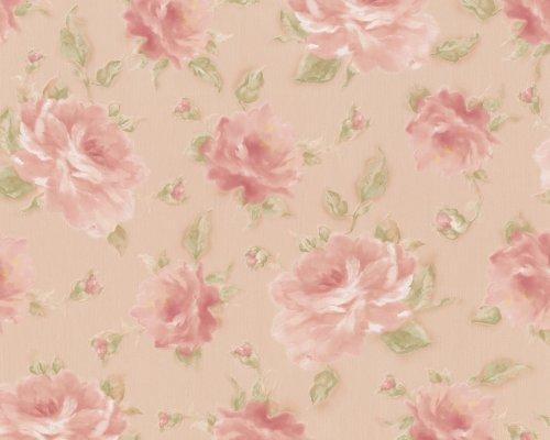 Unterschiedlich A.S. Création 6794-13 Tapete, florales Muster, beige rosa: Amazon  LN08