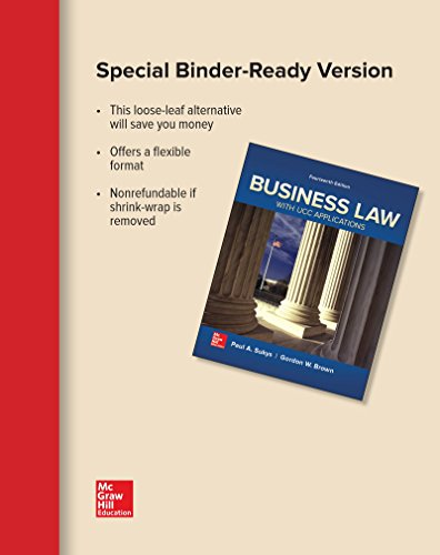 Loose Leaf for Business Law with UCC Applications