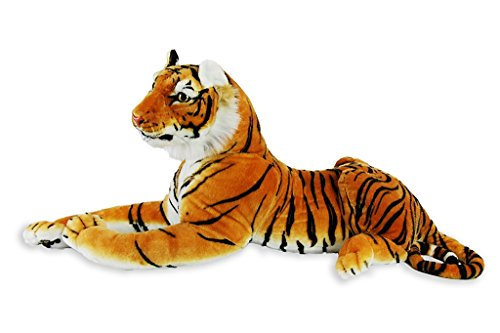 Ostrich Racer Costume (Tiger Realistic Big Cat Soft Stuffed Toy Cuddly Plush Pillow Companion for Kids and Adults BPA-Free 72 x 12 x 18 | 6 pounds | Orange | Large)