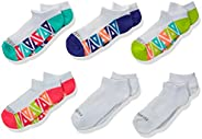 Fruit of the Loom girls 6-pair Everyday Active No Show Socks