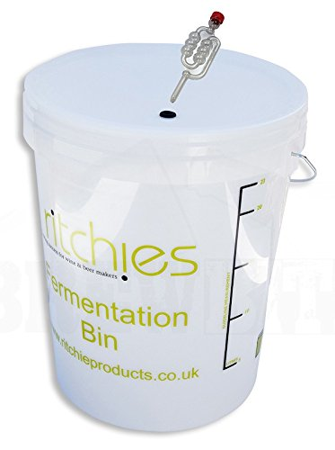 25 Litre Plastic Fermenter with Lid and Grommet Ritchies