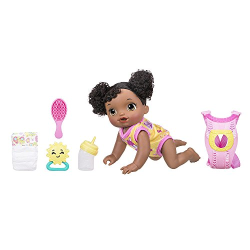 Search : Baby Alive Baby Go Bye-Bye Doll Set - African American New