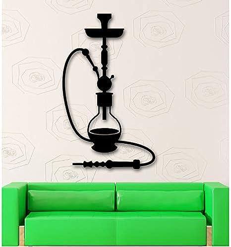 shensc Cachimba Shisha Cultura árabe Relajarse Humo Etiqueta de la Pared Etiqueta de la decoración del hogar Sala de Estar fumando calcomanías de Arte extraíble a Prueba de Agua 70x42 cm