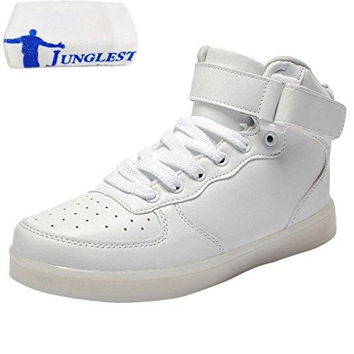 [Presente:pequeña toalla]JUNGLEST® Mujer Zapatillas Zapatos de Mod Blanco