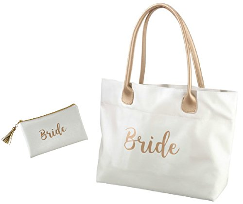 Roy Rose Gifts Lillian Rose Bride Gold Tote and Survial Bag (Gift Tote Gift Set)