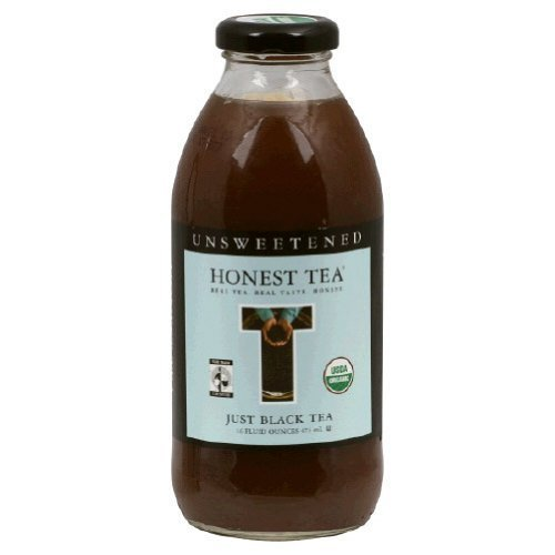 Honest Tea Organic Just Black Unsweetened Tea Bottle ( 12x16 OZ)