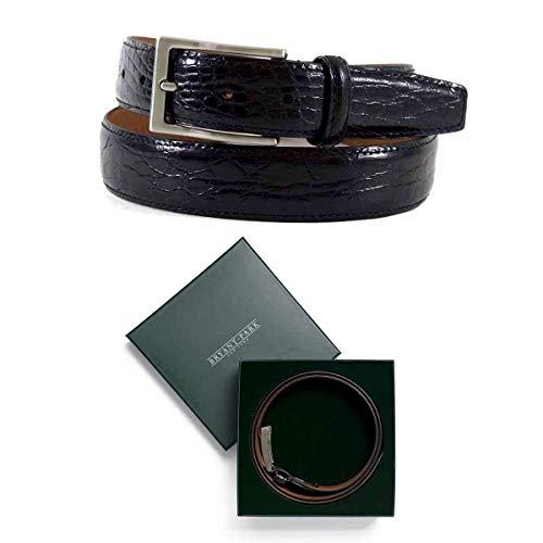 BRYANT PARK Crocodile Belt- Genuine Crocodile Premium Designer Dress Belts - 1.25