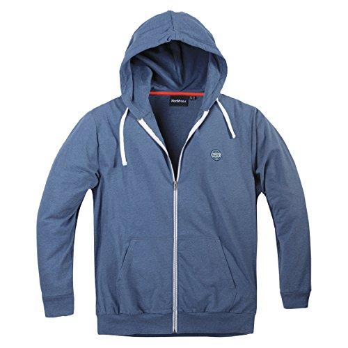 À Capuche Xxl 56°4 Nord Bleu Allsize Mélangé Sweat Jacket wXqYw6d