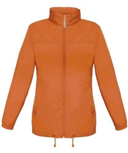 Orange, 10 - S Lightweight High Visibility Hi Vis Viz Ladies Womens Showerproof Cycling Running Over Jacket