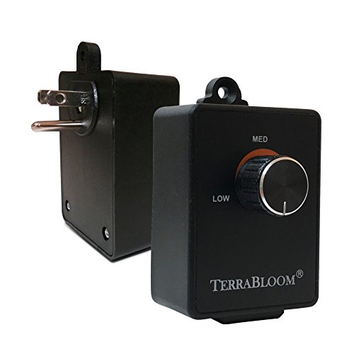 Terrabloom Fan Speed Controller For Booster Inline Exhaust And Duct Fans Blower Airflow And Motor Speed Adjuster Rated For Up To 350w Continuous Dial Rheostat Control