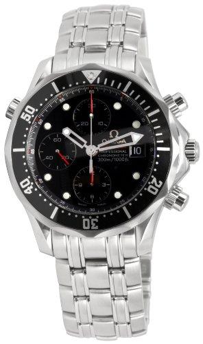 Omega Men s 213.30.42.40.01.001 Seamaster 300M Chrono Diver Black Dial Watch