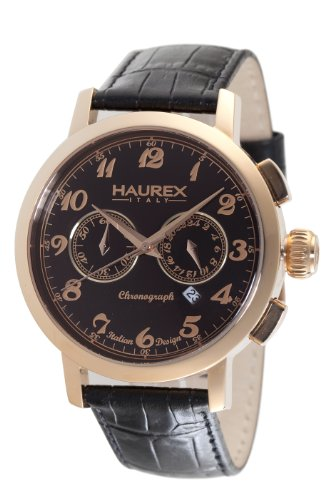 Haurex Italy Men s 9R343UNH Maestro Chronograph Black Dial Watch
