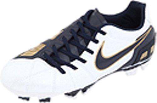 Nike Jr. Total 90 Shoot III FG (White/Blue) (4.5) (Total 90 Soccer)