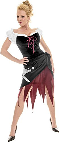 Womens Sexy Simple Pirate Costume Wench Theatre Costumes Pirate Skull]()