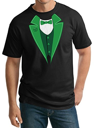 Buy Cool Shirts Mens ST Patricks Day Irish Tuxedo Black Tall T-Shirt Tall 3XL