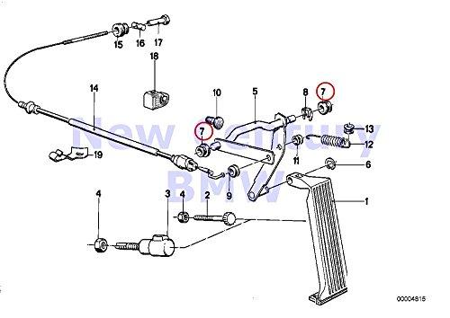 2 X BMW Genuine Accelerator Pedal Accelerator Pedal Sensor Bushing D=10.2MM 733i 735i 633CSi 635CSi M6 524td 528e 533i 535i M5 318i 318is 325e 325i 325ix M3 735i 735iL 750iL 535i 318i 318is 318ti 320i