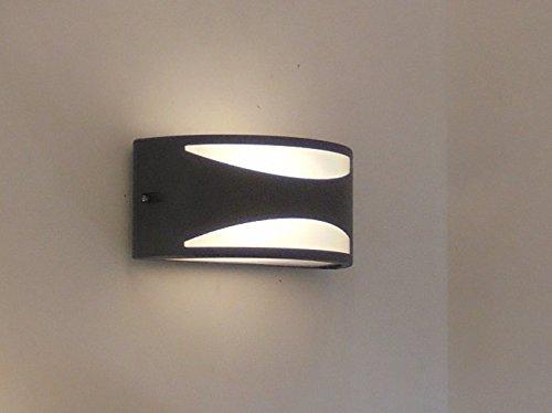 Lampade Da Parete Per Esterni : Applique mezzaluna moderna lampada da parete per esterno nero