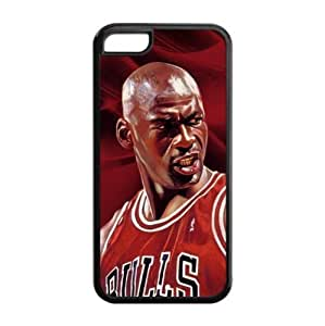Cellphone Accessories iPhone 5C TPU Case with Chicago Bulls Michael Jordan Image Background Design-by Allthingsbasketball