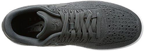 Nike Mens Af1 Ultra Flyknit Scarpa Da Basket Bassa Grigio Scuro / Grigio Scuro-bianco