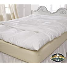 """King Size Zippered Featherbed Cover (76"""" x 80"""")"""