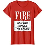 Womens Fire Shirt Hot Sauce Packet Taco Easy Halloween Costume Large Red