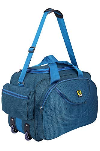 Image Unavailable. Image not available for. Colour  SIBIA Unisex Polyester  40 litres Blue Waterproof Travel Duffle Bag with Roller Wheels 421a32ccf2