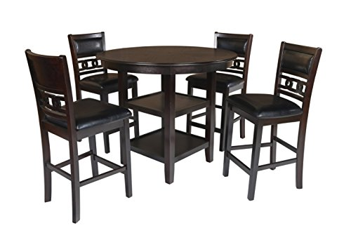 New Classic Gia Counter 5 Piece Dining Set, Ebony