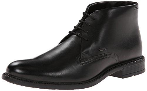 CLARKS Men's Fawley Hi GTX, Black Leather 12 M US