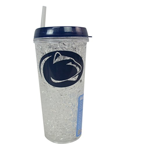 (NCAA Fan Shop Authentic Collegiate Crystal Freezer Travel Tumbler. Show School Pride with this 16 oz Tumbler that will keep your favorite beverage Nice and Cold (Penn State Nittany Lions))