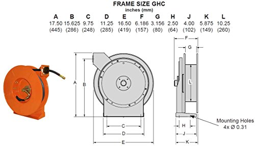 [Gleason Model GHC5035-L Series GH Hose Reel for Commercial/Industrial Applications, P/N: GRD-GHC5035-L] (Grd Series)
