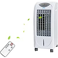 Madoats Portable Evaporative Air Cooler Standing Air Circulator Room Tower Fan with Remote Controller (27 inch)