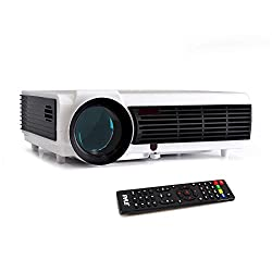 Pyle Video Projector 1080P Full HD Professional Cinema Home Theater Projection, Digital Multimedia File, Keystone Adjust Picture Presentation & Supports USB & HDMI for TV, Computer & Laptop-(PRJD903)