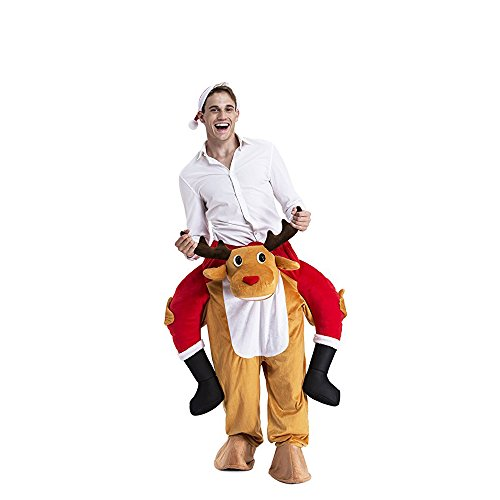 Christmas Halloween Costume Party Suit, Ride Me Adult Carry On Fancy Dress Piggy Back Mens Costume (Sally Halloween Costume Pattern)