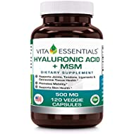 Vita Essentials Hyaluronic Acid Plus Msm 500 Mg Veggie Capsules, 120 Count