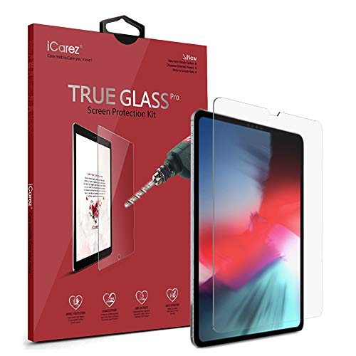 iCarez [Tempered Glass] Screen Protector for Apple 11-inch iPad Pro 11 2018 Premium Glass Easy to Install [9H 0.3MM 2.5D]