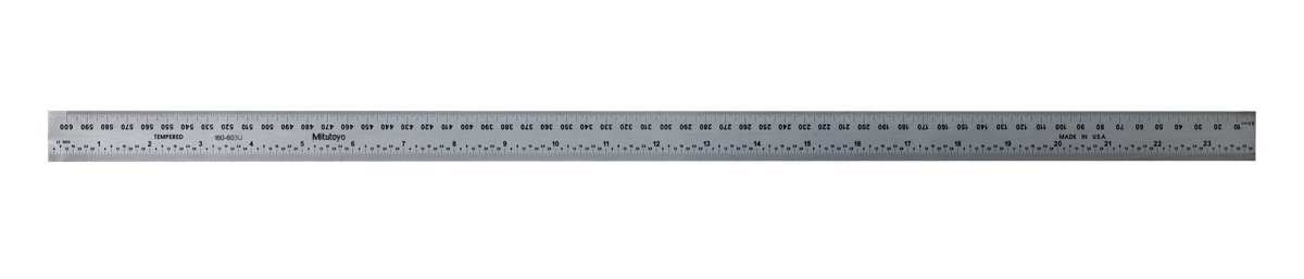 Mitutoyo 180-603B Combination Square Blade, 24'' x 600 mm C-TYPE GRADUATIONS
