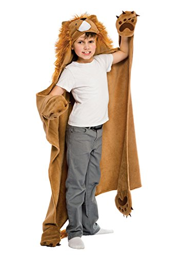 Fin Fun Roary Lion Wearable Hooded Blanket by Wild Things