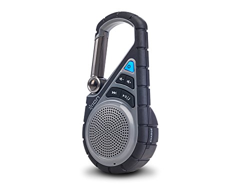 ION Audio Clipster Active | Bluetooth Clip-On Outdoor Speaker with Waterproof Rubber Covering & Mounting Bracket by ION Audio