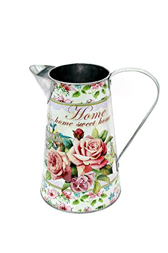 Rustic Gallary Galvanized Watering Can (Pink Flowers Pattern) by Rustic Gallary