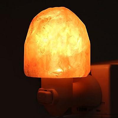 Salt Lamp,Salt Night Light,Natural Himalayan Salt Rock Lamps,Salt Wall Lamp Plug in,Mini Hand Carved Crystal Night Light,Used for Lighting,Decoration UL-Approved Plug