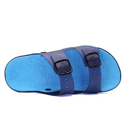 Hishoes - Zapatillas de estar por casa de pvc para hombre azul 2