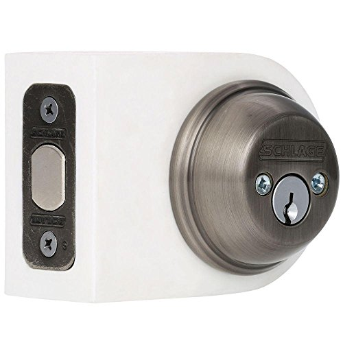 SCHLAGE LOCK CO B62N620 Double Cylinder Deadbolt, Pewter ()
