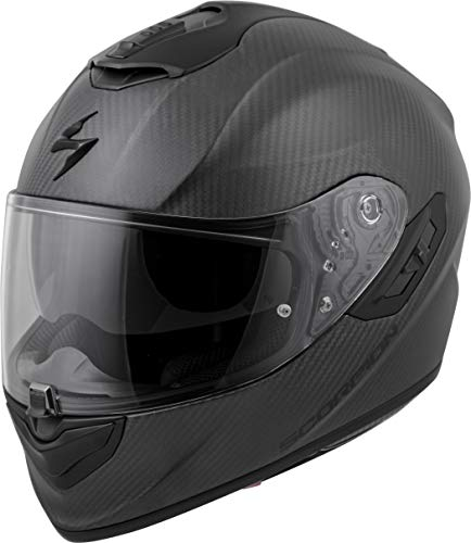 (Scorpion EXO-ST1400 Carbon Adult Street Motorcycle Helmet - Matte Black/Large)