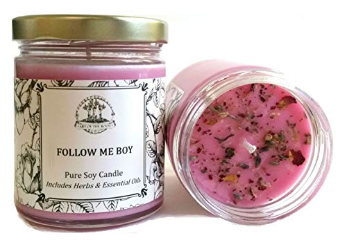 (Art of the Root Follow Me Boy 8 oz Soy Spell Candle Love, Commitment & Fidelity (Hoodoo, Magick, Wiccan & Pagan Rituals))