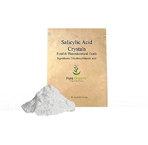Salicylic Acid (Food and Pharmaceutical Grade) (4 oz (0.25 lb)) (also available in 8 oz and 16 oz) (Organic Salicylic Acid Powder)