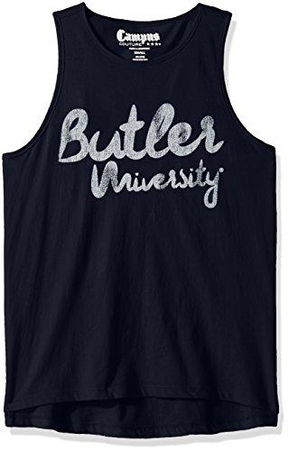 NCAA Butler Bulldogs Women's Racer Tank Top, X-Large, Navy