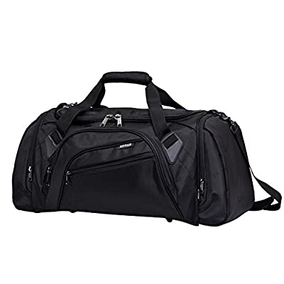 SIYUAN Athletic Duffel Bag, Waterproof Sports Bag for Ball with Shoe Compartment