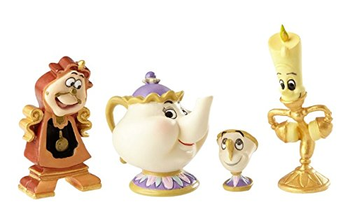 Enesco Disney Showcase Beauty and The Beast Figurine Set Multicolor ()